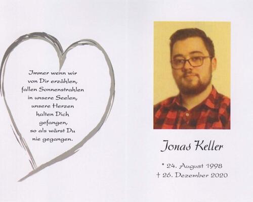 Trauerkarte Jonas Keller